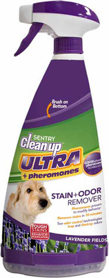 SENTRY Clean Up Ultra+Pheromones Stain+Odor Remover. (PRNewsFoto/Sergeant's Pet Care Products, Inc.) (PRNewsFoto/SERGEANT'S PET CARE PRODUCTS)