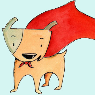 """Tako, the titular character of the innovative new children's book """"The Good Dog,"""" is curating the Hero Dog Art Show in conjunction with American Humane Association. Children are invited to visit www.herodogawards.org to submit drawings of the hero dog in their life for a chance to have the drawing shown on the national television broadcast of the American Humane Association Hero Dog Awards on Hallmark Channel on October 30. (PRNewsFoto/American Humane Association)"""
