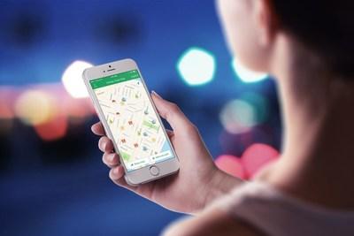 Nextdoor Holiday Cheer Map on an iPhone