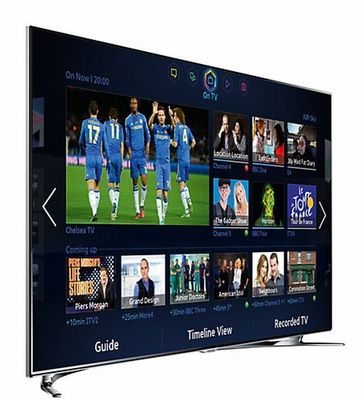 "Samsung UE55F8000 LED HD 1080p 3D Smart TV, 55"", Quad Core with Freeview/Freesat HD and Voice/Motion Control with 2x 3D Glasses"