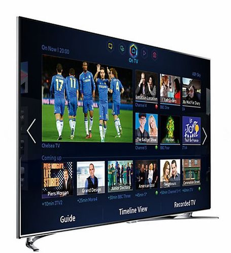 "Samsung UE55F8000 LED HD 1080p 3D Smart TV, 55"", Quad Core with Freeview/Freesat HD and Voice/Motion ..."