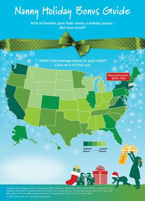 Care.com's Nanny Holiday Bonus Guide. (PRNewsFoto/Care.com) (PRNewsFoto/CARE.COM)