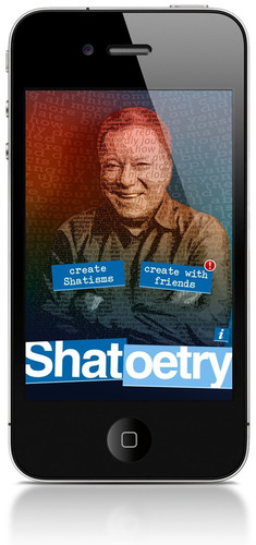 "William Shatner's app, ""Shatoetry"", for the iPhone. Available for purchase on the App Store.  ..."