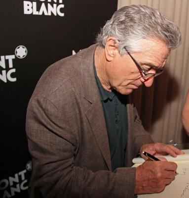 "Robert de Niro attends the Montblanc-powered ""Midnight Moment"" reception.  (PRNewsFoto/Montblanc)"