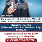 Arise Leadership Participating in 12th Annual Frost & Sullivan MindXchange Customer Contact West