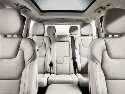 Volvo XC90 seating front view. (PRNewsFoto/Johnson Controls) (PRNewsFoto/Johnson Controls)