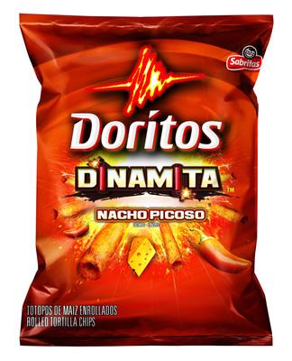 Frito-Lay introduces Doritos Dinamitas, a spicy, taquito-shaped snack from Doritos.  (PRNewsFoto/Frito-Lay North America)