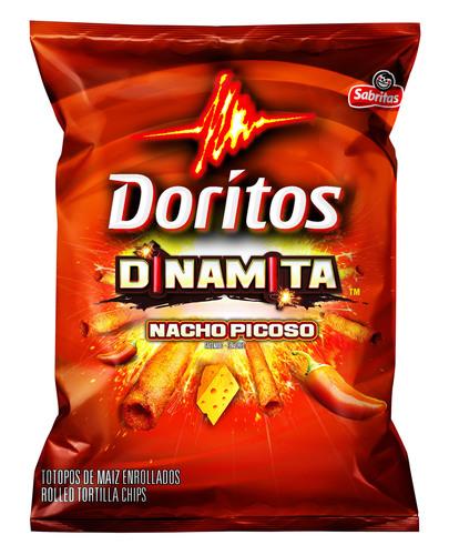 Frito-Lay introduces Doritos Dinamitas, a spicy, taquito-shaped snack from Doritos.  (PRNewsFoto/Frito-Lay ...