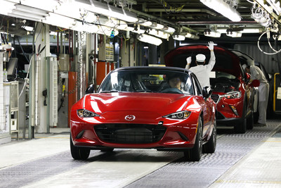 U.S.-bound 2016 Mazda MX-5 Miata production kicks off today