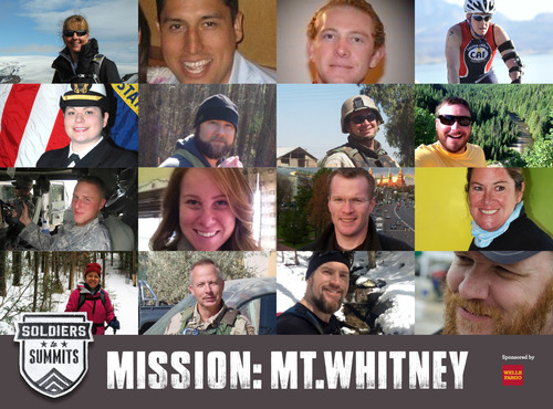 Soldiers to Summits, a program of No Barriers USA, and Mission: Mt. Whitney expedition sponsor Wells Fargo ...