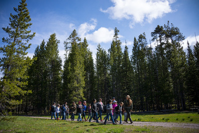 In celebration of National Park Week and this year's National Park Service Centennial, Grand Teton Lodge Company (GTLC) announces its continued commitment to support the national Every Kid in a Park initiative by hosting National Park Service Deputy Director Peggy O'Dell and, for the second year, the fourth grade class of Donald D. Stalker Elementary School from Blackfoot, Idaho, May 25-27. Photo by Cody Downard.