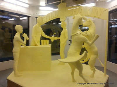 2014 Farm Show Butter Sculpture revealed Copyright: Mid-Atlantic Dairy Association. (PRNewsFoto/Pennsylvania Department of Agriculture) (PRNewsFoto/PA. DEPT. OF AGRICULTURE)