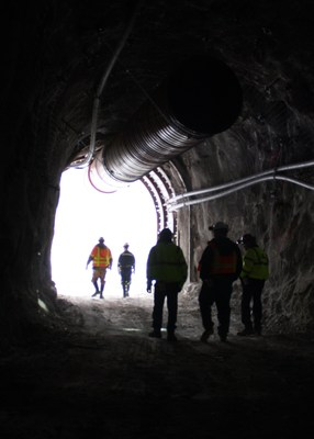 Atna Resources' Pinson Underground Mine, near Winnemucca, NV