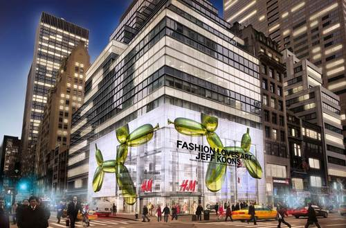 H&M Partners with The Whitney Museum of American Art and Artist Jeff Koons to Celebrate Opening of New Fifth Avenue Flagship Store. (PRNewsFoto/H&M)