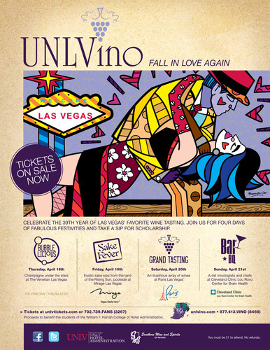 UNLVino Expands To Four Days For 39th Annual Event -- 'Fall In Love Again' -- April 18-21