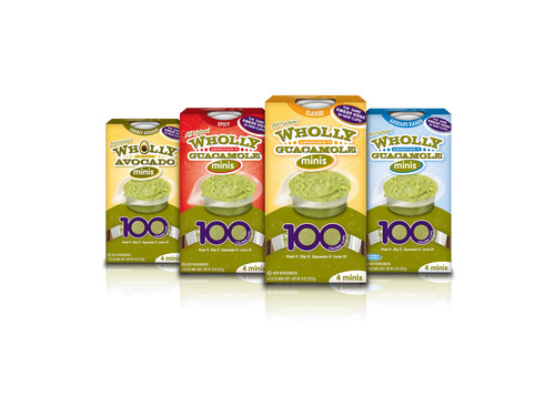New Wholly Guacamole(R) 100 cal Minis - Peel it, Squeeze it, Dip it, Love it!  (PRNewsFoto/Wholly Guacamole)
