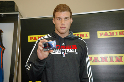 IRVING, Texas -- NBA All-Star Blake Griffin Holds Panini HRX, the industry's first video trading card. Courtesy: Panini America.  (PRNewsFoto/Panini America)