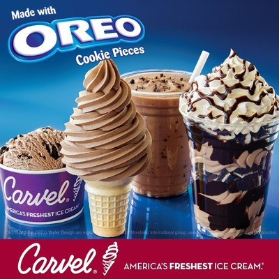 America's Favorite Cookie(R) and Carvel...America's Freshest Ice Cream...Come Together For a Full Line of OREO(R) Flavor Ice Cream Treats and Novelties