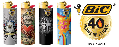 "THE WORLD HAS ""FLICKED ITS BIC"" FOR 40 YEARS! More than 30 Billion Iconic BIC Lighters Sold Worldwide ..."