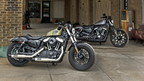 (Left to right) Harley-Davidson's new Forty-Eight(R) and Iron 883(TM) models assert Dark Custom leadership with motorcycles inspired by the rebellious spirit of the past updated with modern design and new suspensions that put a little extra smooth in the Harley-Davidson soul.