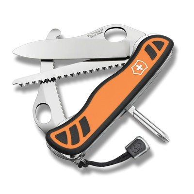 A Victorinox Swiss Army Knife is a classic, time-treasured gift for Father's Day or graduation. These unique, highly-functional knives offer a lifetime of use and enjoyment. The Hunter XT (shown here) is easy to grip thanks to its ergonomic shape and dual-density handle. Large thumb holes on each implement make it easy to open - even when wearing gloves.  (PRNewsFoto/Victorinox Swiss Army)