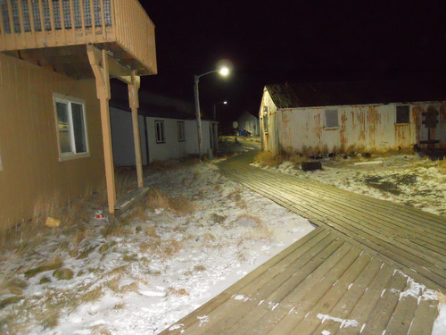 Evolucia Inc. lights the boardwalk on the remote Aleutian island of Akutan Alaska with  Aimed Optics LED cobra ...