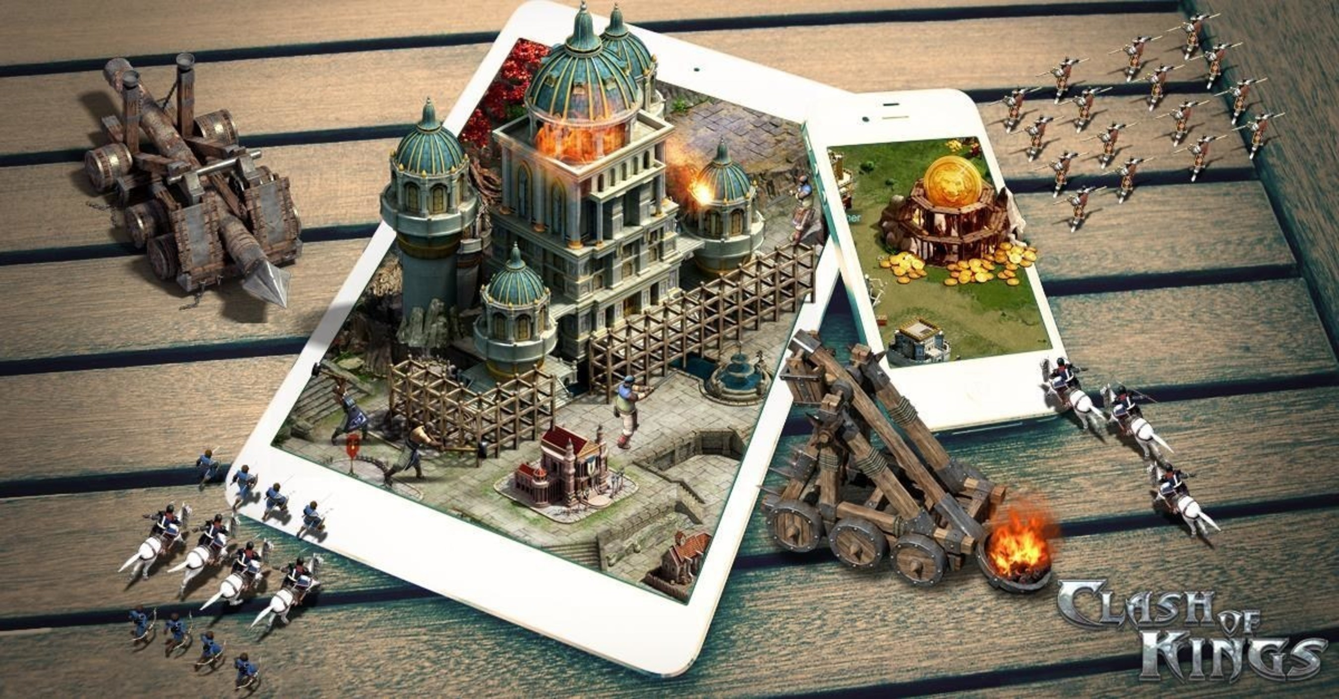 Clash of Kings is a real-time strategy game where players build an empire and defend it