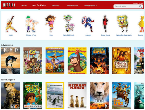 Netflix Unveils 'Just for Kids' Experience