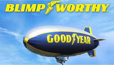 Goodyear's 'Blimpworthy' Gives Fans Control of Goodyear Blimp to Celebrate the Launch of the College Football Season.  (PRNewsFoto/Goodyear)