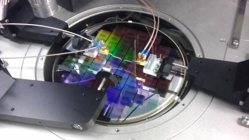 IBM Graphene IC in wafer tester (PRNewsFoto/IBM)