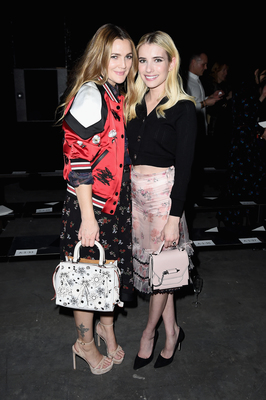 Drew Barrymore and Emma Roberts Attend Coach 75th Anniversary Show and After Party