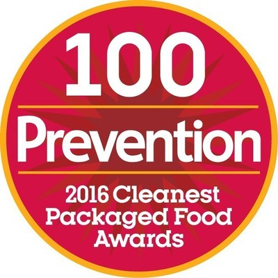 Prevention Magazine 2016 Cleanest Packaged Food Awards