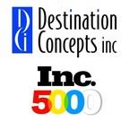 DCi Highest Ranked DMC on Inc 5000 List (PRNewsFoto/Destination Concepts inc)