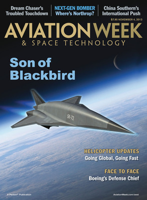 Lockheed Martin's Skunk Works Reveals Blackbird Successor in Exclusive Interview with Penton's Aviation Week.  (PRNewsFoto/Penton)