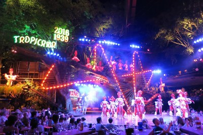 Many of the passengers from Carnival Corporation's Fathom Adonia cruise ship spent their first evening in Havana on May 2 at the famous Tropicana club, where elaborately costumed dancers and singers perform on different stages throughout the outdoor venue.
