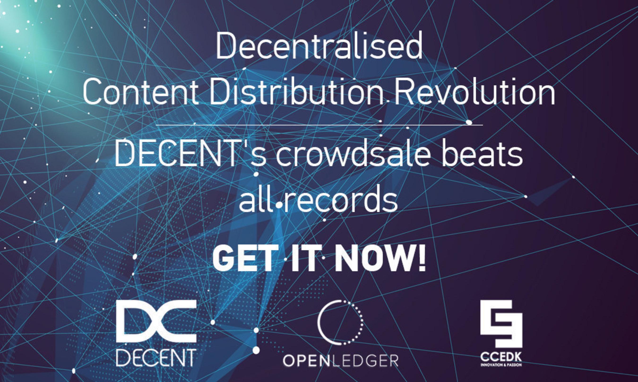 DECENT Blockchain Platform ICO Raises Over 4138 BTC in Two Days