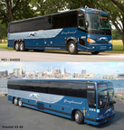 Greyhound's new buses include the MCI D4505 (above) and Prevost X3-45.  (PRNewsFoto/Greyhound Lines, Inc.)