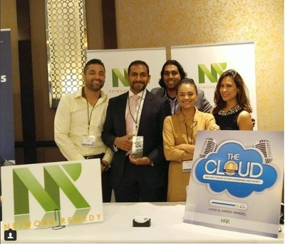 Network Remedy crew posing with Best in Show award