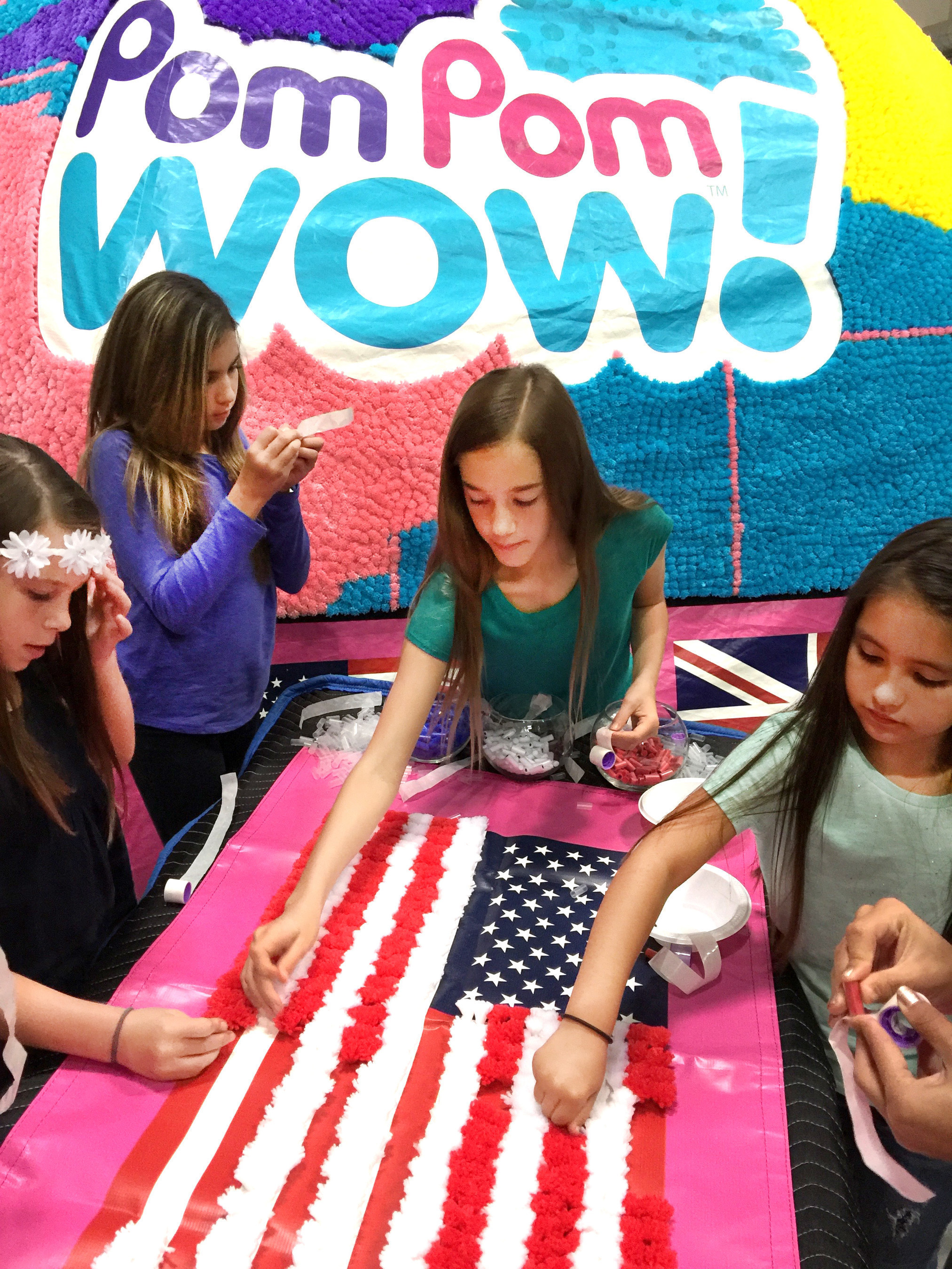 Children throughout the world contributed to the making of the Pom Pom Wow World Dome.