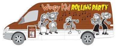 Jeff Kinney's Wimpy Kid The Third Wheel Party Truck.  (PRNewsFoto/ABRAMS)