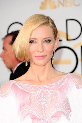 Cate Blanchett's flawless skin on the red carpet at the 2016 Golden Globe Awards (PRNewsFoto/SK-II)