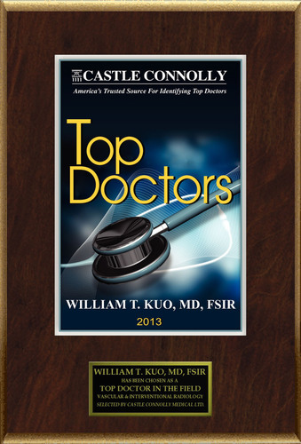 Dr. William T. Kuo is recognized among Castle Connolly's Top Doctors® for Stanford, CA region in