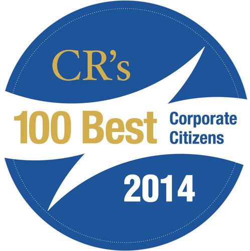 CR Magazine 100 Best Corporate Citizens 2014 logo. (PRNewsFoto/Raytheon Company)