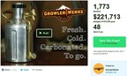 GrowlerWerks' Kickstarter page on Sunday night