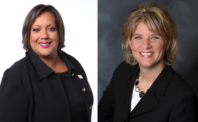 Deborah Sawyer, CEO of EDI, and Vicki LaRose, CEO of Civil Design.