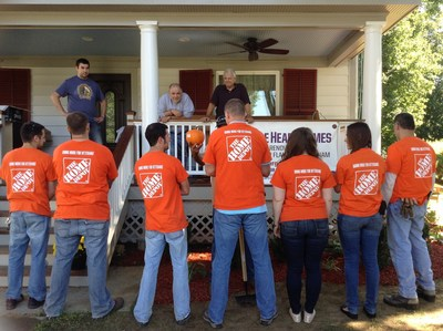 Team Depot Brewster, NY donates time and shrubs for Vietnam Veteran Dan Flanigan's home