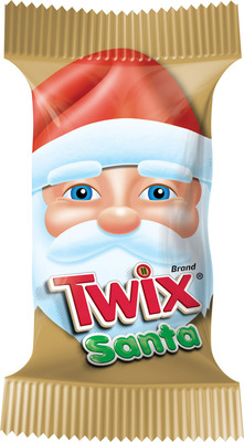 Whether you're decking the halls or gifting with goodies, Mars Chocolate North America has the holiday season all wrapped up with new items like TWIX Brand Santas. These 1.06-ounce singles add Christmas magic as stocking stuffers or on-the-go treats. Other festive new items include the M&M'S Brand Recipe Box Tin, M&M'S Brand Milk Chocolate Candies for the Holidays Cane and M&M'S Brand MINIS Milk Chocolate Candies--perfect for baking. Returning favorites include red and green M&M'S Brand Candies and DOVE Brand PROMISES Milk and Dark Chocolate Snowflakes--each individually wrapped with a snowflake design embedded on top.  (PRNewsFoto/Mars Chocolate North America)