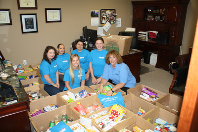 Express Employment Professionals in Warwick, R.I. has collected more than 37 Express tote bags and 24 boxes of food to date, along with several commercial-sized cans of food. An additional 20 pick-ups are scheduled for tomorrow. Due to the success of the Brand It Blue campaign in the greater Providence area, the local representatives have extended the food drive through the summer.