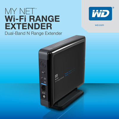 New WD(R) Wi-Fi Range Extender Instantly Boosts Home Wireless Coverage.  (PRNewsFoto/WD)