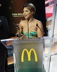 "Legendary R&B songstress Toni Braxton accepts a Lifetime Achievement McDonald's 365Black Award for her commitment to giving back to the community. Other honorees include football cornerback Charles ""Peanut"" Tillman; award-winning actress Wendy Raquel Robinson; and educator and historian Lonnie Bunch, among others. The awards are presented annually to salute outstanding achievements of those who are committed to making positive contributions that strengthen the African-American community. McDonald's 365Black Awards show will premiere September 1 on BET Networks at 9pm EST."